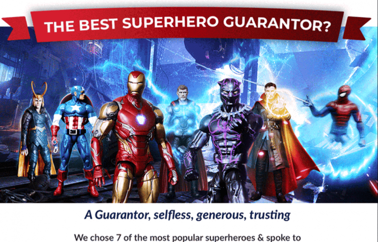 superhero infographics